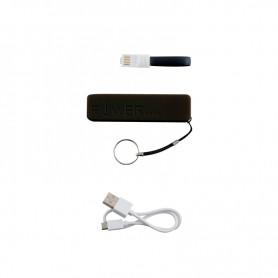 BATTERIE EXTERNE 2200 MAH AVEC CABLES LIGHTNING & MICRO USB